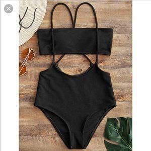 Zaful Brazilian Sling Bandeau Bathing Suit
